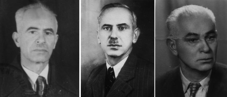Tri sina hadži Muhameda Kurta, s lijeva: Alija (1893-1974), Fadil/Fazlija (1895-1968) i Husnija (1900-1959)