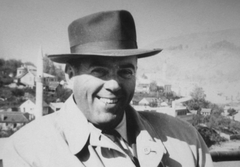 Slika lijevo: Muhamed Kurt u Konjicu 1958. godine.