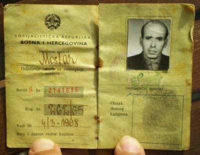 Salihova lična karta iz 1965. godine.