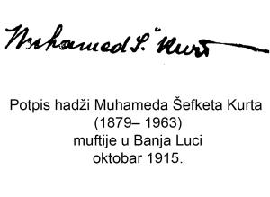 potpis-muftije-muhameda-Šefketa-Kurt