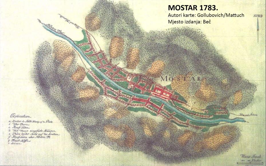 Karta Mostara 1783.