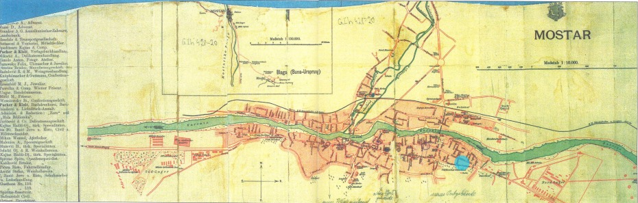 Karta Mostara 1899.
