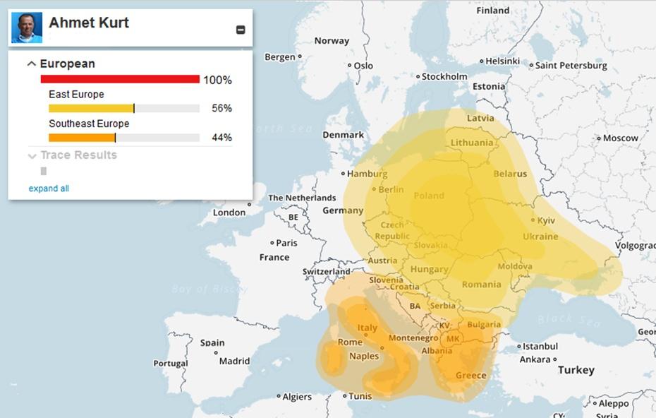 Karta genetskog porijekla